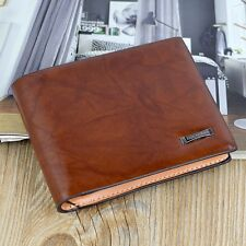 Men's Leather Bifold Wallet Credit Card Holder Clutch Fashion Purse Handbag