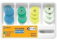 Dental Polishing Discs metal bush diameter 16 mm 40 pcs + mandrel № 1.072 TOR VM