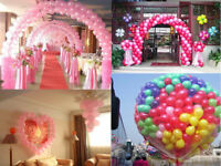 "12""inch Heavy Duty 100 Pearl Balloons Ribbons Cake Box Shape Balloon Weight"