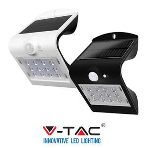 Lampada LED Solare da Muro A Batteria 1,5W con Sensore PIR 4000K IP65 V-TAC VT-7