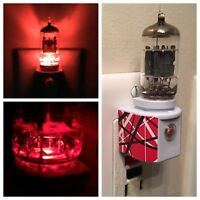 12AX7 Red Vacuum Tube LED Night Light made with EVH Van Halen 5150 Decal