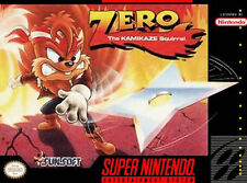 Zero the Kamikaze Squirrel SNES Reproduction, Cart Only