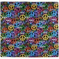 Peace Symbol Bandanna Paisley Head Scarf Festival 100% Cotton