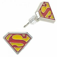 DC Comics Superman Logo Symbol Pierced Stud Earrings Licensed New