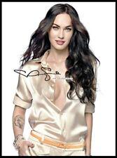 Megan Fox, Autographed, Pure Cotton Canvas Image. Limited Edition (MF-12)