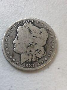 1881 - O Morgan Silver Dollar $1 90% Silver US Coin  S045