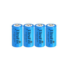 4pcs Ultrafire 16340 Battery 3.7V 1800mAh Rechargeable Li-Ion Batteries Cell Bat