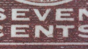 "SC#114v ""line in N"" - 7c red brown KGV Admiral"