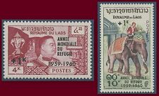 LAOS N°69/70** Année mondiale du réfugié, TB, 1960 Laos World Refugee Year MNH