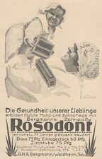 Y6100 Rosodont Zahnpasta - Illustrazione - Pubblicità d'epoca - 1925 Old advert