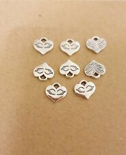 20 Angel Wing Silver  Wingsl Charm For Jewellery Making Pendant Accessories