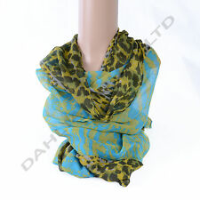 LADY WOMEN FASHION STYLE TIGER LEOPARD SCARF SHAWL DIFFERENT COLORS Polyester