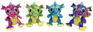 PLUSH DRAGON sparkle soft dinosaur stuffed animal sleeping buddy gift kids toy
