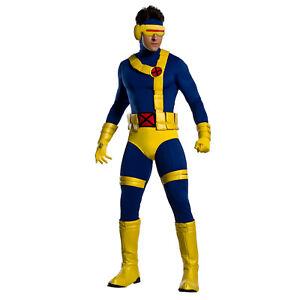Adult Men's Marvel X-Men Mutant Cyclops Halloween Costume Jumpsuit Mask Belt