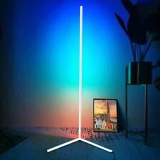 UK Colour Changing RGB Mood Lighting Metal LED Corner Floor Wall Lamp W.Remote
