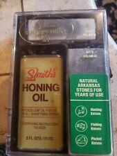 VINTAGE Smith's Deluxe Sharpening Kit w/ Honing Oil Hard & Soft Arkansas Stones