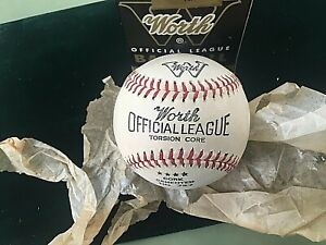 ANTIQUE WORTH OFFICIAL BASEBALL TORSION CORE CORK CEMENTED No 727 BOXED NEW