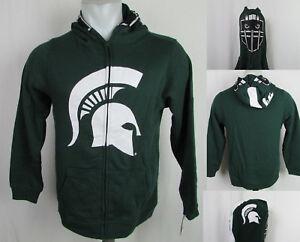 Michigan State Spartans NCAA Boys Full-Zip Face Football Helmet Hoodie