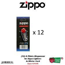 (12) Zippo 6-Flint Dispensers for Pocket Lighters, 72 Total Flints #2406N_12