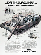 1988 U.S. ARMY M1 TANK Original Vintage Ad ~ Be All You Can Be~ FREE SHIPPING!