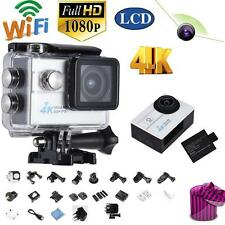 "2.0"" Wifi Action Sports Camera HD 16MP 4K 1080P 4X Zoom Waterproof White US B0P1"