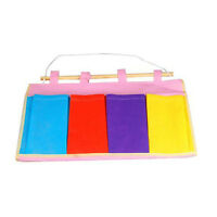 Colorful Wall Door Cloth Hanging Storage Bag Case Pocket Home Organization W/