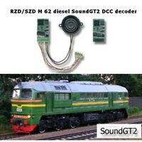 SZD RZD  M 62 Soviet diesel SoundGT2 DCC decoder for Roco, Fleischmann, Piko