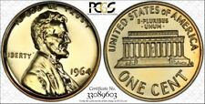 Toned 1964 Lincoln Cent Proof - PCGS PR67 RD