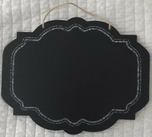"""SCROLLED EDGE CHALKBOARD SIGN 14"""" x 11"""" FOR WEDDING VENUE Decorations"""