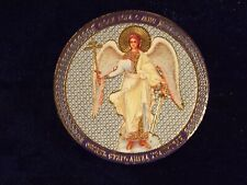 """Orthodox Russian icon for car protection - """"GUARDIAN ANGEL.Diameter - 50mm."""