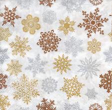 4 lose Servietten Motivservietten Weihnachten Schneeflocken Sterne (1230)