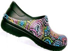 CROCS Women's Neria Pro II Rubber Graphic Nurse Clog Work Shoes Size 5