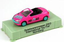 1:87 Peugeot 206 CC Cabrio pink Spielwarenmesse 2003 Nürnberg - AWM