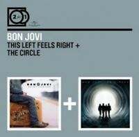 BON JOVI - 2 FOR 1: THIS LEFT FEELS RIGHT/THE CIRCLE 2 CD ROCK POP  NEUF