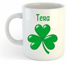 Tera - Shamrock Personalised Name Mug - Irish St Patricks Gift