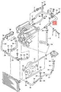 Genuine AUDI 100 Avant 200 80 90 A6 S6 Cabrio Coolant Pipe 078121071BF