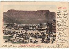 CGH: EDVII Postcard, Saturday Market on the Parade: -Stoke Newington, 6 Apr 1903