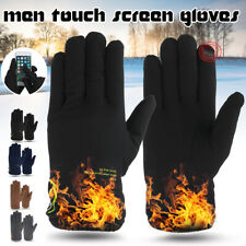 Mens Warm Windproof Waterproof Velvet Lined Thermal Touch Screen Driving
