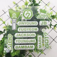 2019 Kpop GOT 7 Member Name Mobile Phone 3D Bubble Sticker SPINNING Fan Made