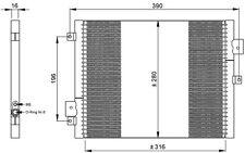 NRF Condensador, aire acondicionado PORSCHE BOXSTER 911 CAYMAN 35795