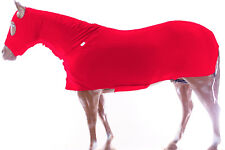 Horse Full All Body Zippered Lycra Slinky Stretch Fabric Suit Red Large Size