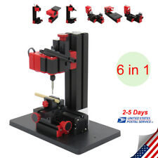 6In1 Functional Mini Wood Metal Lathe DIY Jigsaw Milling Drilling Machine US FDA