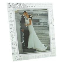 """Juliana Mirror 3D Words Wedding Day """"Mr and Mrs"""" Photo Frame 8"""" x 10"""""""