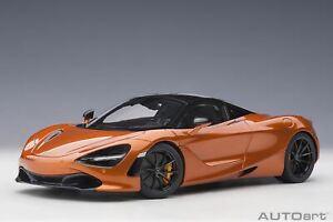 1:18 McLaren 720S -- Azores/Metallic Orange -- AUTOart 76074