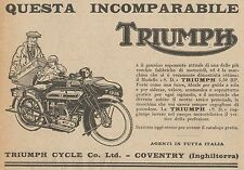 Y7835 Moto TRIUMPH Modello S.D. 5,50 Hp - Pubblicità d'epoca - 1926 Old advert