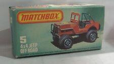 Repro Box Matchbox Superfast Nr. 5 4x4 Jeep Off Road