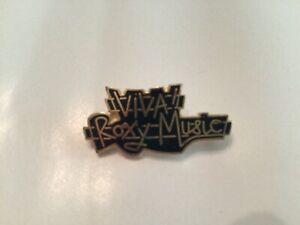ROXY MUSIC Viva Roxy Music! Authentic Vintage UK Fan Club Enamel Pin