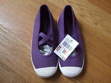 Ballerines NEUVES en toile violettes DPAM T.33
