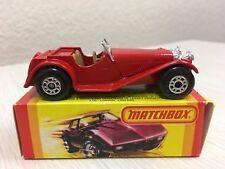 Lesney Matchbox Red Jaguar SS 100 No 47 CLEAN NICE CONDITION Vintage 1982 w/ Box