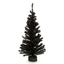 Darice Christmas Canadian Pine Tree with Wood Look Base - 148 Tips - Black - 24""